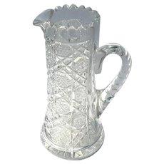 Antique Brilliant Cut Glass Pitcher