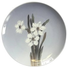 Large Royal Copenhagen Porcelain Narcissus Plate