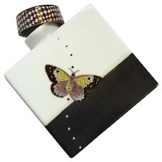 Tozai Home Decorative Porcelain Butterfly Canister