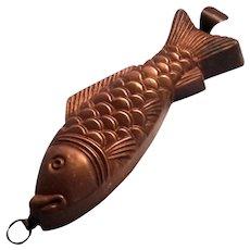 Antique Copper Fish Mold