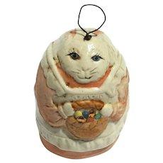 Vintage Signed Salamander Porcelain Rabbit Bell