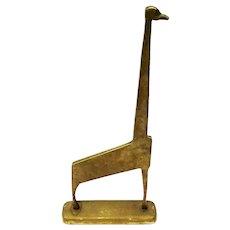Modernist Brass Giraffe Figure, Circa 1950