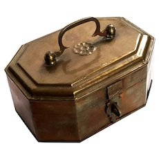 Hand-Chased Brass Tea Caddy