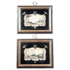 Pair Of Vintage Framed French Paintings