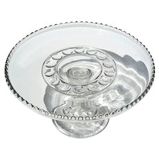 Early American Pattern Glass Cake Stand