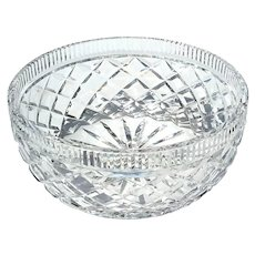 Waterford Diamond Cut Crystal Bowl