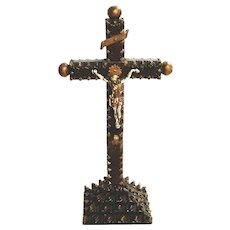 19th Century Tramp Art Crucifix