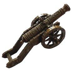 19th Century Dutch Bronze Model Cannon
