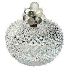 Vintage Diamond Cut Crystal Round Box