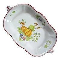 Vintage Italian Handled Deruta Faience Pottery Bowl