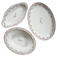 Set Of Three French Limoges Porcelain Serving Pieces