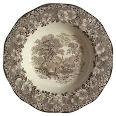 Wedgwood Woodland Brown Transferware Bowl