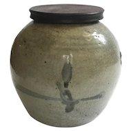18th Century Chinese Stoneware Ginger Jar