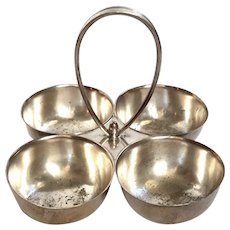 Holiday Inn Hotel Silver Nut And Snack Bowl Set