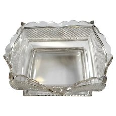 Early American Pattern Glass Square Bowl