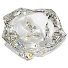 Daum France Abstract Crystal Ashtray