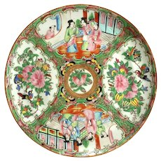 19th Century Chinese Rose Canton Porcelain Plate