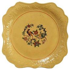 19th Century Yelloware Square Serving Dish