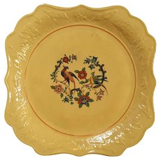 19th Century Yelloware Square Serving Dish