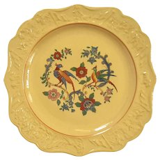 19th Century Set Of Five Yelloware Lunch Plates
