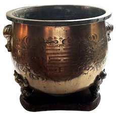 19th Century Chinese Brass Jardiniere