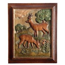 Black Forest Carved Wood Plaque
