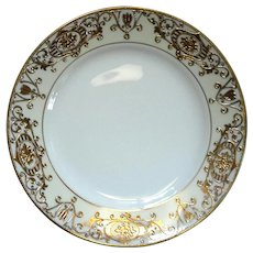Set Of Twelve Noritake Hand-Painted Moriage China Lunch Plates