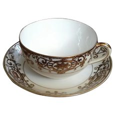 Noritake Hand-Painted Moriage China Cup And Saucer