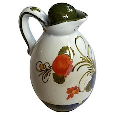 Delft Pottery Oil Pitcher With Stopper