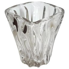 Vintage Free Form Studio Glass Vase