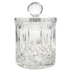 Vintage Czech Cut Crystal Biscuit Jar