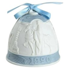 Lladro Porcelain 1990 Christmas Bell