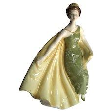 Vintage Royal Doulton Porcelain Alexandra Figure, Circa 1969