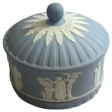 Wedgwood Blue Jasperware Round Box