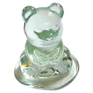 Art Glass Bear Paperweight By Wheaton Village