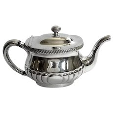 Reed And Barton Silver Soldered Hotel Silver Teapot