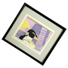 Signed Lithograph Titled Musical Penguin