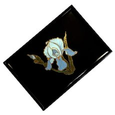 Couroc Of Monterey Blue Iris Tray
