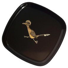 Couroc Of Monterey Small Square Roadrunner Tray