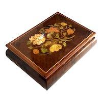 Italian Floral Marquetry Music Box