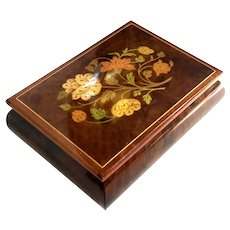 Italian Floral Marquetry Music Box