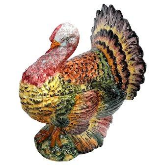 Italian Majolica Pottery Turkey Tureen