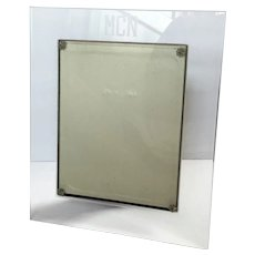 Monogrammed Glass Picture Frame With Original Velvet Easel Back