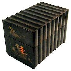 Antique Japanese Lacquer Book Music Box, Circa 1910