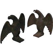 Pair Of 19th Century Cast Iron Snow Birds, Circa 1875