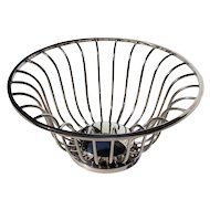Vintage Mid-Century Modern Silver Plated Basket,  Circa 1950