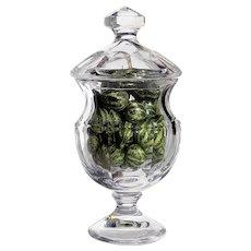 Vintage Large Cut Crystal Covered Pedistal Jar