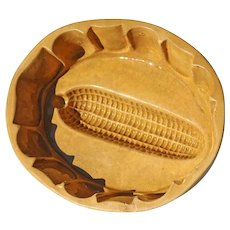 19th Century Yellow Ware Pottery Corn Mold