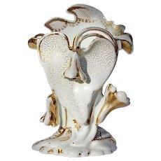19th Century Gilt Decorated White Porcelain Paris Vase