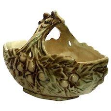 McCoy Pottery Acorn Basket